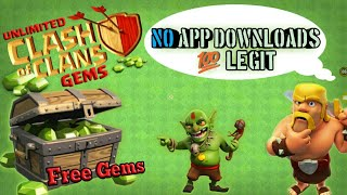 Best easiest way to get free gems in clash of clans 2018 -No app download -New method(Legal)