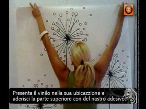 Installazione di vinilo decorativo su una parete liscia   youtube
