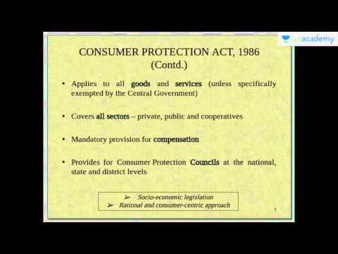 Unacademy UPSC: COPRA - Aims & Objectives - Consumer Protection Act, 1986