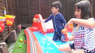 アンパンマン 玉入れ プール 水遊び おもちゃ こうくんねみちゃん
