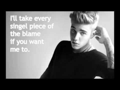Justin Bieber - Sorry (Acoustic) Lyrics w/ Skrillex & BLOOD
