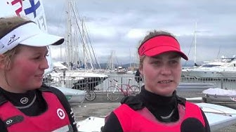 ISAF Sailing World Cup Hyeres 2013 Silver Medalist.Tuula Tenkanen FIN Interview