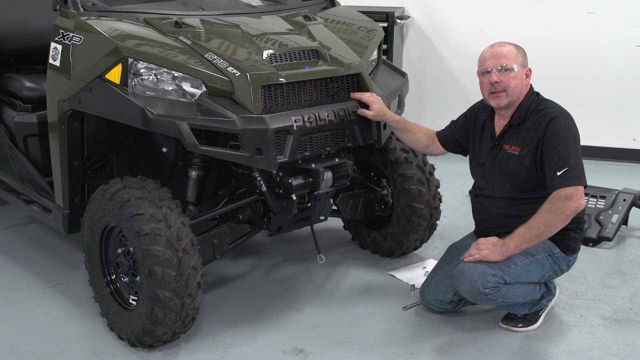 utv winch assembly and installation kolpinoutdoors [ 1280 x 720 Pixel ]