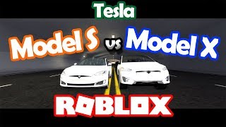 TESLA MODEL S vs TESLA MODEL X (ROBLOX: Simulateur de véhicule)