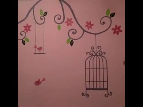 Decorar pintar cuarto mural para bebe recien nacido for Cuarto de nino recien nacido