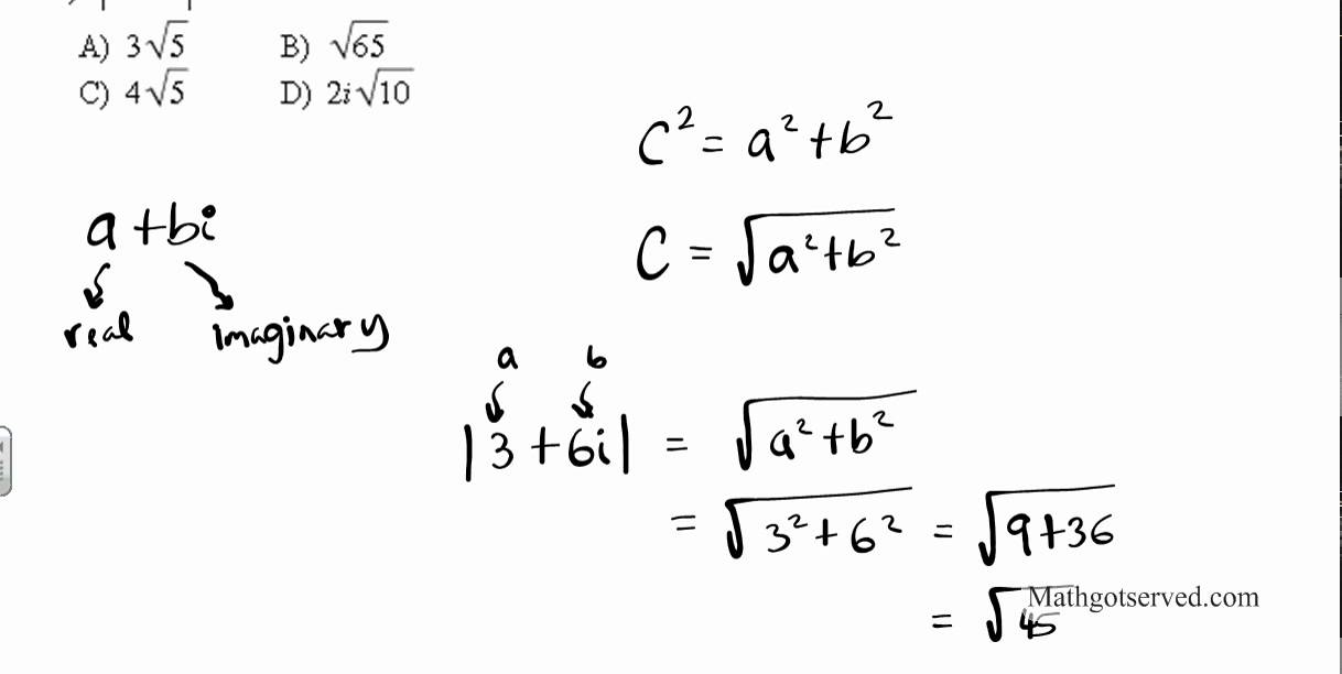 Properties Of Absolute Value Of Complex Numbers
