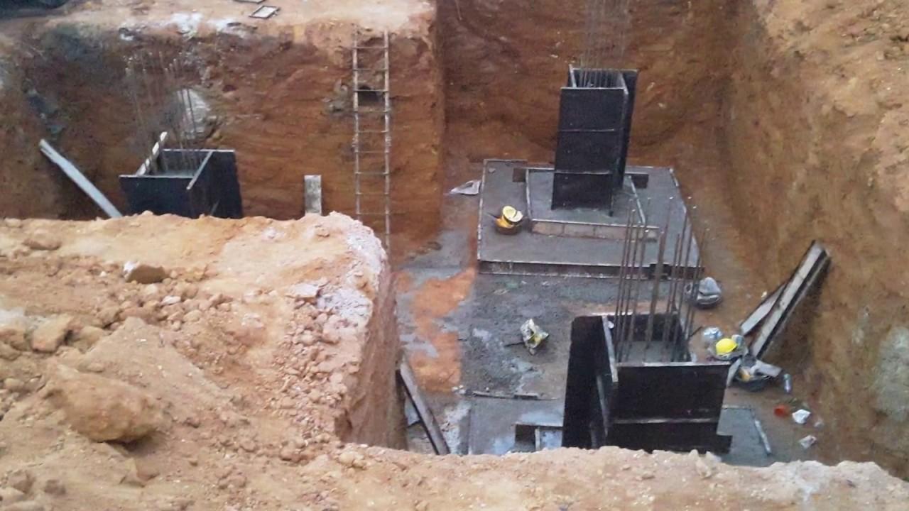 mobile tower foundation construction(3 leg)