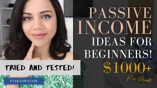 4 Passive Income Ideas For Beginners 2019 // Favorite Passive Income Streams I've Built So Far!