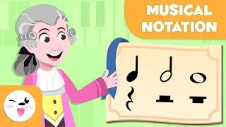 Musical Notation - Learning Music for Kids - The quarter note, the half note and the whole note