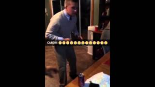 Disrespectful table talking shit gets fucked up by turnt ass kid.