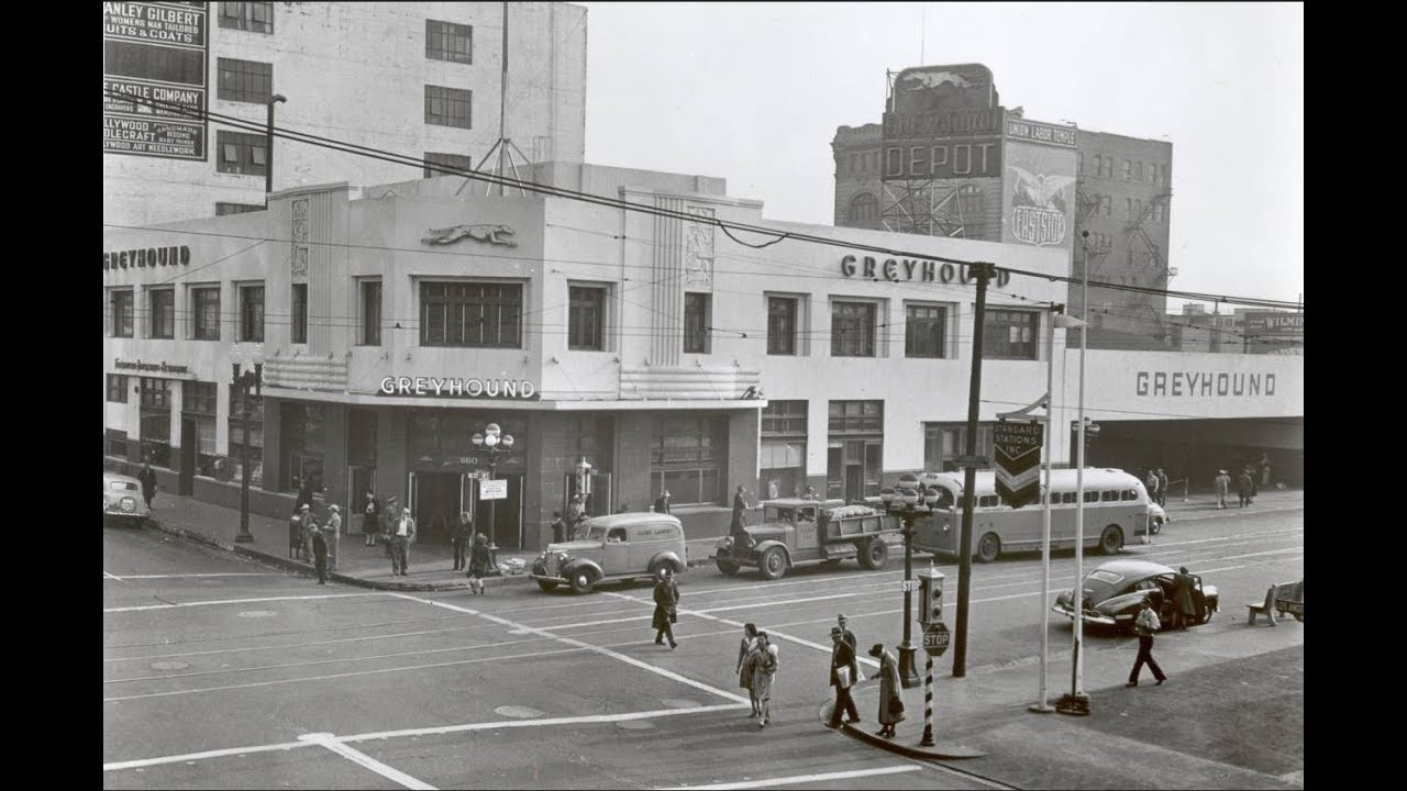 L A 's old Greyhound Depot revisited -- Exactly 50 Years Later!