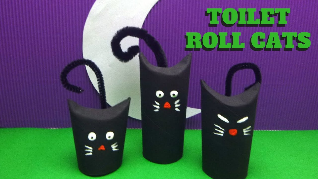 Halloween craft toilet paper roll cat toilet paper roll crafts halloween craft toilet paper roll cat toilet paper roll crafts youtube jeuxipadfo Choice Image