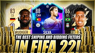 BEST SNIPING AND BIĎDING FILTERS ON FIFA 22! EASIEST WAY TO MAKE COINS ON FIFA 22! MAKE 100K COINS!