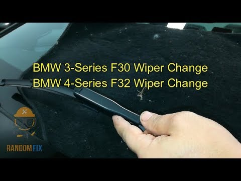 how to change wiper blades bmw f10