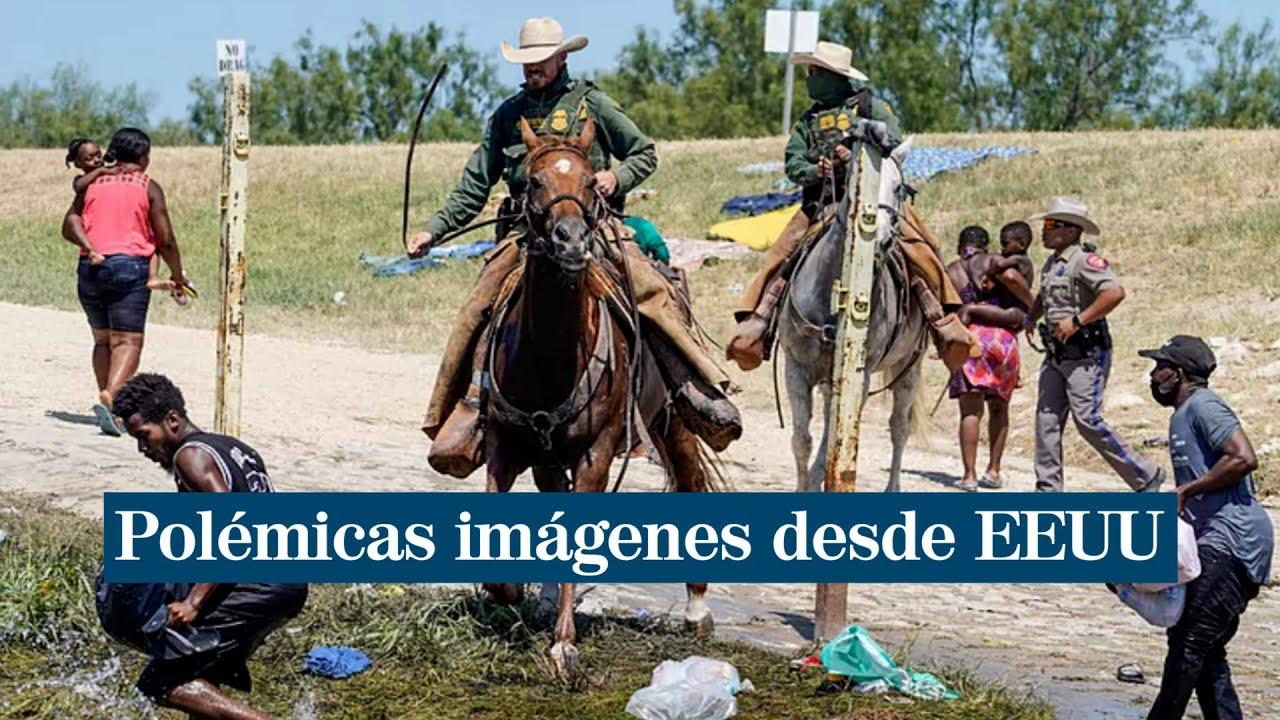 Polémica en Estados Unidos por el maltrato de los guardias fronterizos  contra inmigrantes haitianos - YouTube