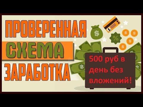 ГОТОВАЯ СХЕМА ЗАРАБОТКА ОТ 500 РУБЛЕЙ В ДЕНЬ ! БЕЗ ВЛОЖЕНИЙ