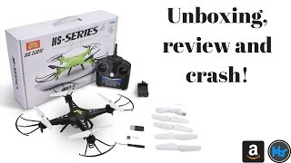 HS110 Drone with HD Live FPV - Unboxing, Review and CRASH