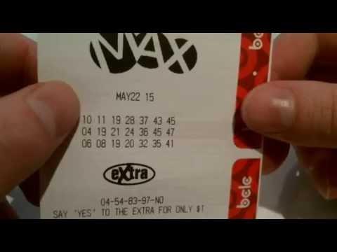Canadian 50 Million dollar Lotto Max - May 22, 2015