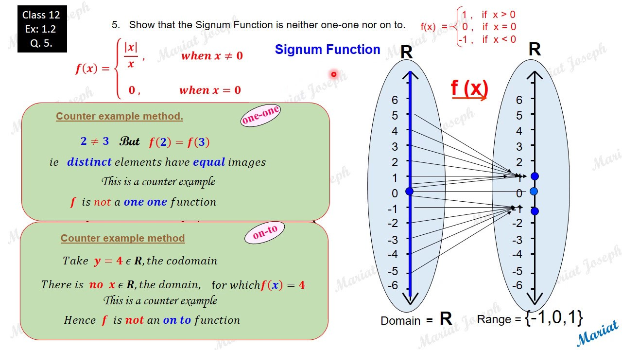 how to find one to one function