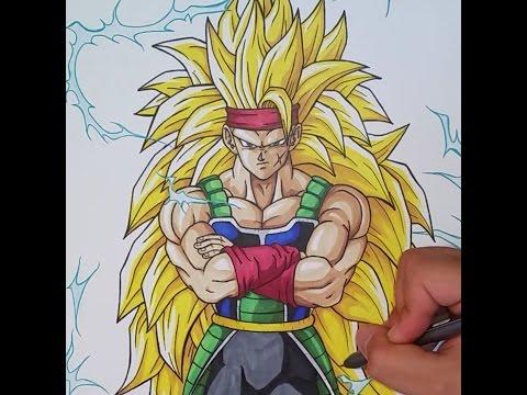 Drawing Bardock Super Saiyan 3   Dragonball Z   TolgArt