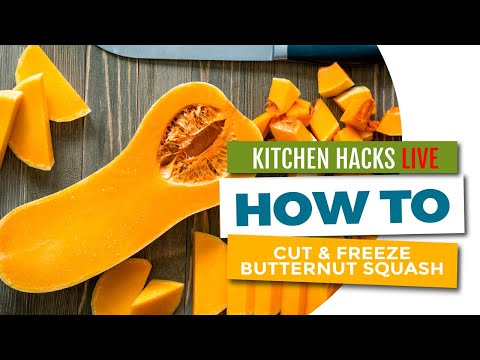 How to Cut and Freeze a Large Butternut Squash