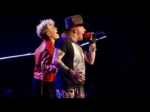 Guns N 39 Roses Feat Pink Patience Msg Nyc Pink Youtube