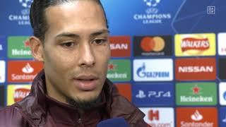 Virgil Van Dijk im Interview mit DAZN vor Liverpool vs Neapel
