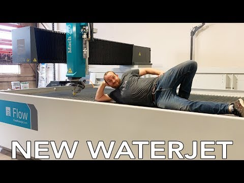 New Waterjet Unboxing, Install And Shenanigans | 5-axis Flow Mach 200