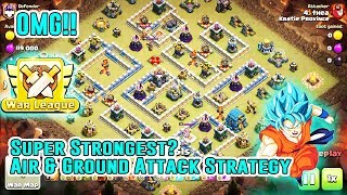 OMG!! Super Strongest Attack AIR & GROUND Smash TH12 3-Star - CLAN WAR LEAGUES( Clash of Clans )