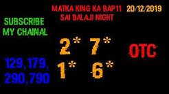 #sattamatkai.net saibalaji night 20/12/2019