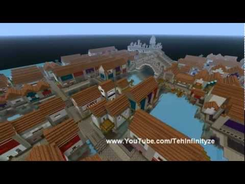 Minecraft - Venice & Map Download!! + Water Shader Mod