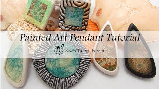 Polymer Clay Project: Painted Art Pendants Tutorial