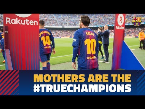 Barça and Rakuten pay tribute to mums at Camp Nou