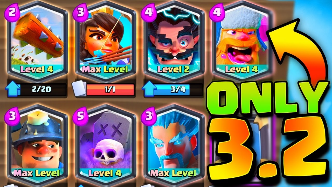 3 2 legendary deck clash royale youtube for Clash royale deck arc x
