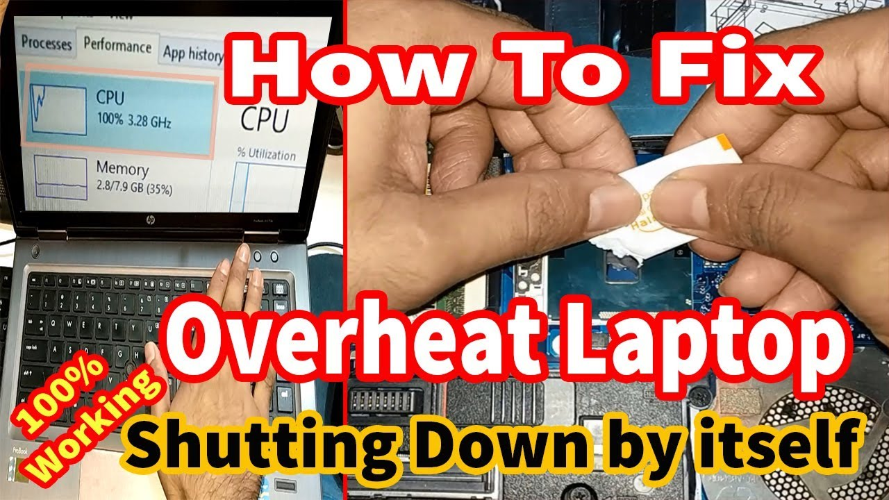 How To Fix an Overheating Laptop with high CPU usage,Overheating Laptop  Shutting Down by itself 2018