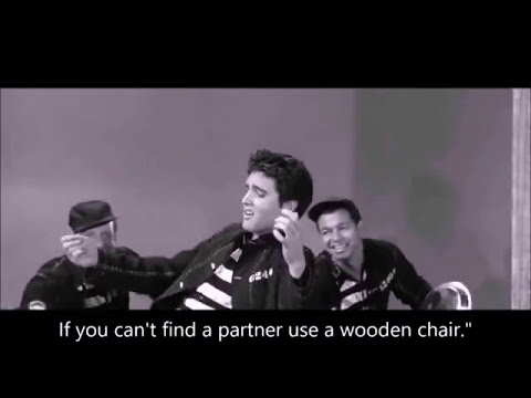 Elvis Presley's Jailhouse Rock with Lyrics
