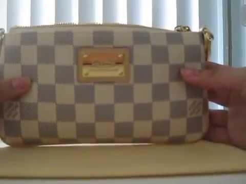 1a62e0244c26 Louis Vuitton Damier Azur Milla Clutch - YouTube