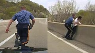 Officer runs to save suicidal man