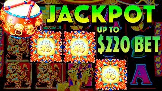 🥁 HANDPAY JACKPOT🥁 Up to $220/SPIN on High Limit Dancing Drums!