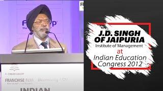 J D  Singh of Jaipuria Institute of