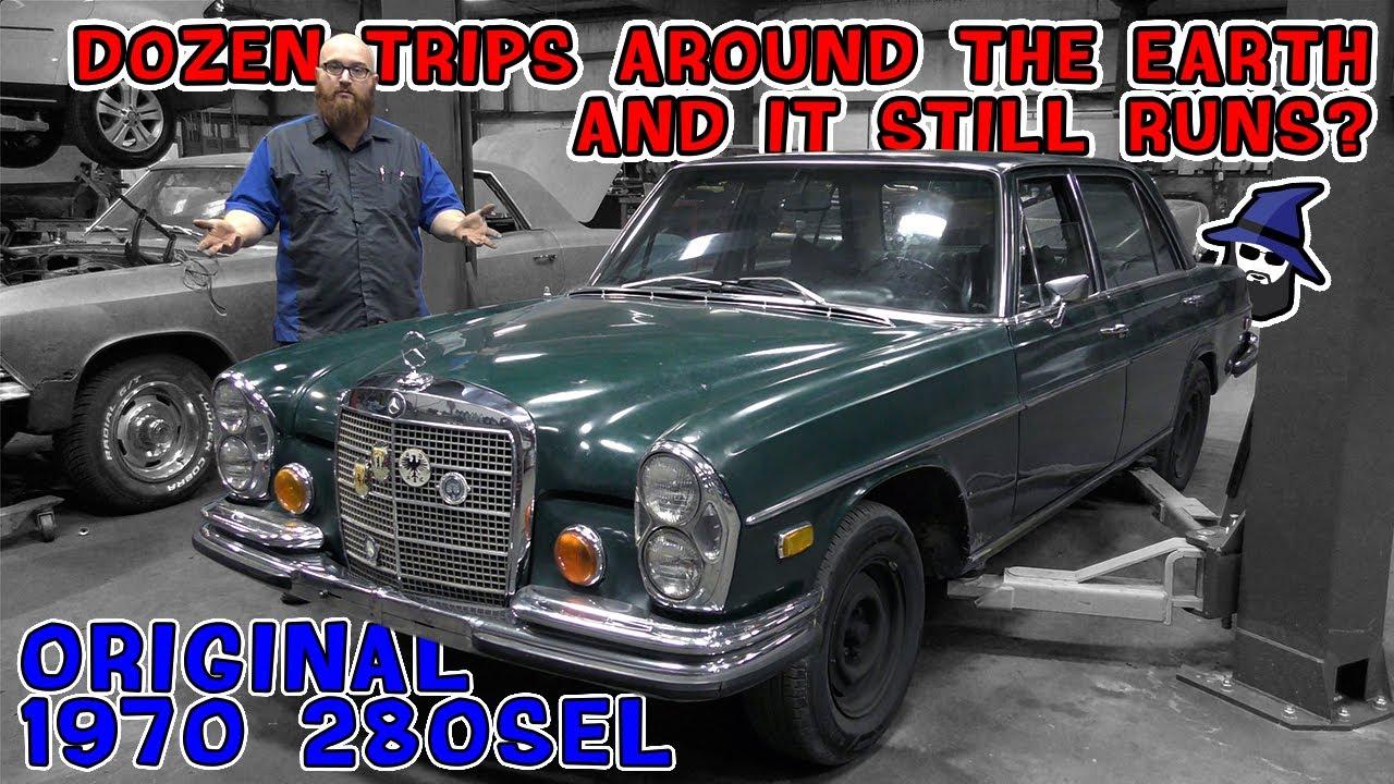 Dozen trips around the earth & '70 Mercedes 280SEL still runs! See the full CAR WIZARD inspection