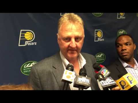 Larry Bird on free agent signings, Paul George, playing faster