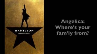 Hamilton | Satisfied [Instrumental/Karaoke with Lyrics]