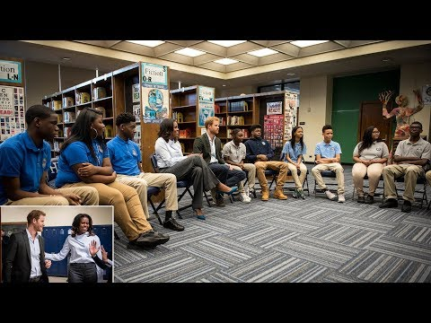 Reunited! Harry and Michelle Obama Surprise Chicago High School Students Without Meghan