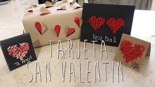 DIY Tarjeta san valentin para mi novio ♥ Thumbnail