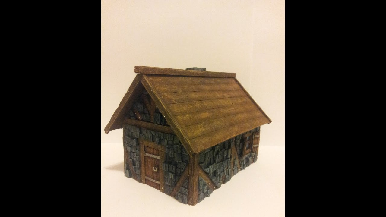 how to build simple wargaming houses (part 1  cottage)