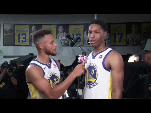 Warriors Steph Curry interviews Patrick McCaw in Press Conference Sept 22, 2017. MUST WATCH!