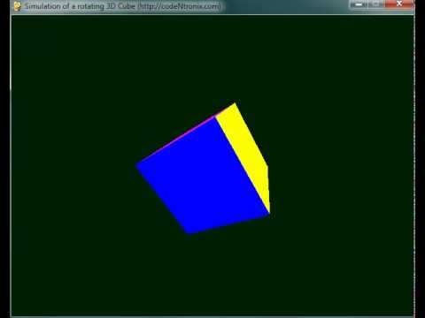 Rotating 3D Cube using Python and Pygame | codeNtronix