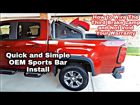 How to Install Chevy Colorado Sports light bar and Wiring Third Brake Lamp  Correctly GM –  84407330