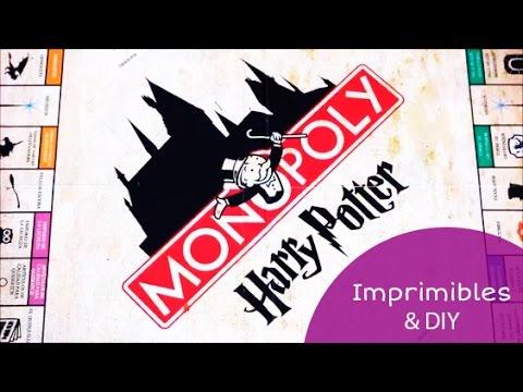 Imprimibles del Monopoly de Harry Potter (en español) + DIY 🎄⚡ I ...
